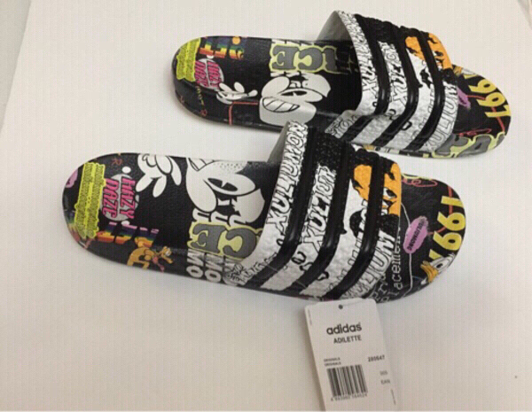 Used Authentic Adidas Adilette slides size 43 in Dubai, UAE