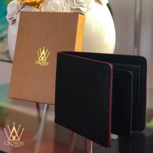Used Black gents wallet with pipin in Dubai, UAE