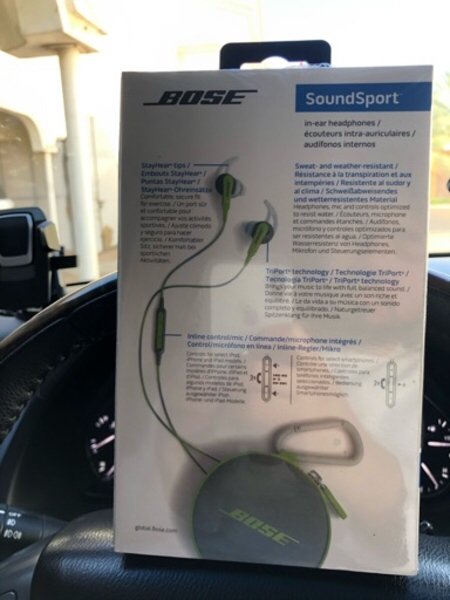 Used Bose sound sport headphones in Dubai, UAE