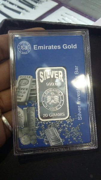 Used 20gm 999.0  silver bar with pack in Dubai, UAE