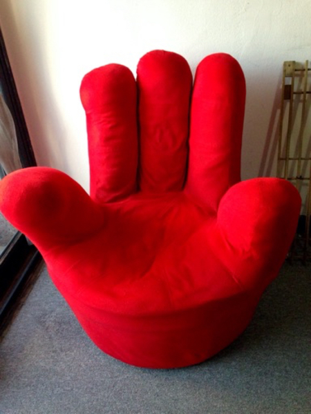 Used Beautiful red hand sofa in abu dhabi in Dubai, UAE