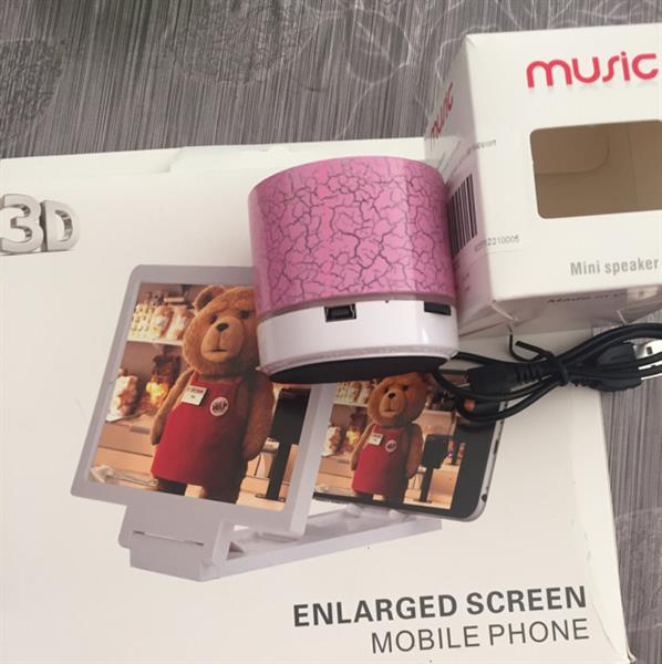 Used Mobile 3D Enlarge&spark Mini Bluetooth Speaker..combo Offer in Dubai, UAE