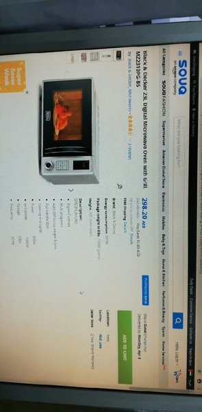 Used Black & Decker Microwave oven 23L 800W in Dubai, UAE