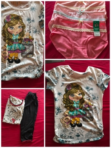 Used New tshirt  payjama set panties clips in Dubai, UAE