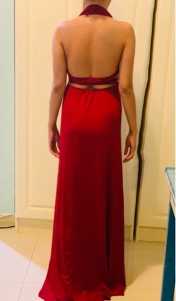 Used LONG BACKLESS MAXI DRESS / RED COCKTAIL in Dubai, UAE