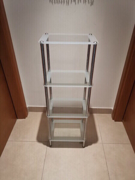 Used Glass shelve and 3 glass canisters  in Dubai, UAE