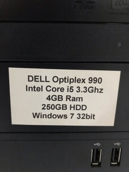 Used Dell Desktop with screen and keyboard in Dubai, UAE