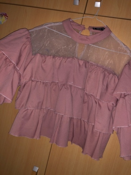 Used Pink mesh crop top in Dubai, UAE