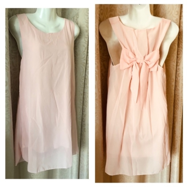 Used Chiffon dress with bow in the back XL in Dubai, UAE