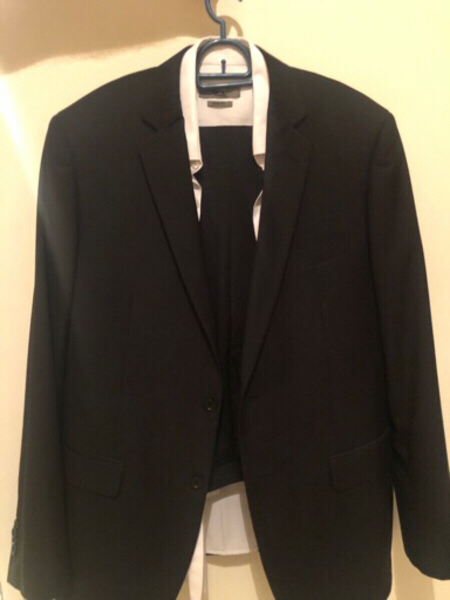 Used Black suit & 1 shirt included for man in Dubai, UAE