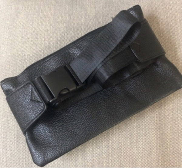 Used Black Leather Belt Bag in Dubai, UAE