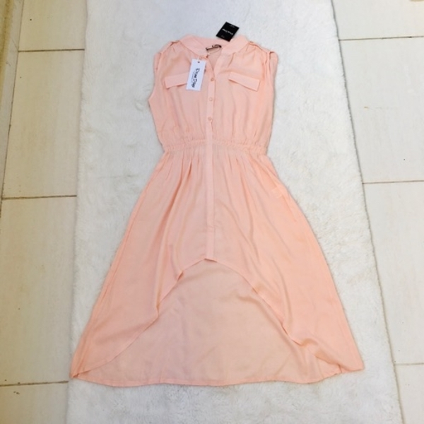 Used 🌺Dress with tale, soft peach color🌺 in Dubai, UAE