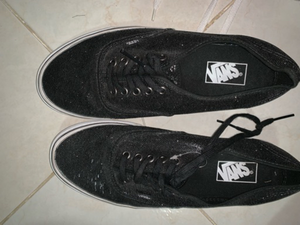 Used Black sparkly Vans shoes in Dubai, UAE