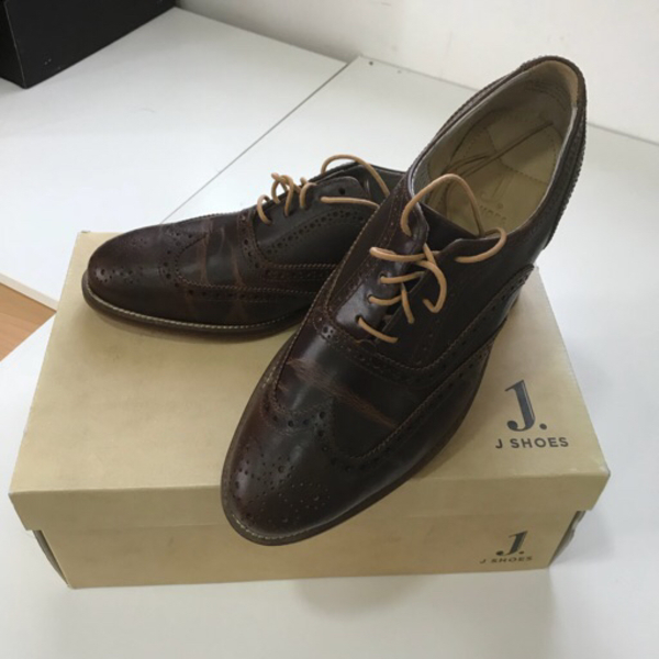 Used Original J Shoes leather 43Euro size in Dubai, UAE