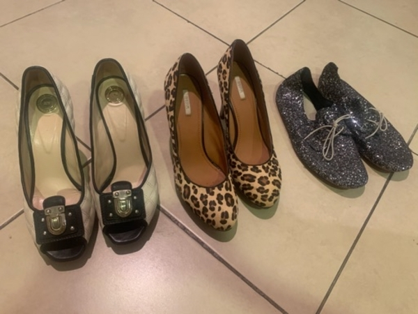 Used 3 pairs of shoes (celine, geox and Annie in Dubai, UAE