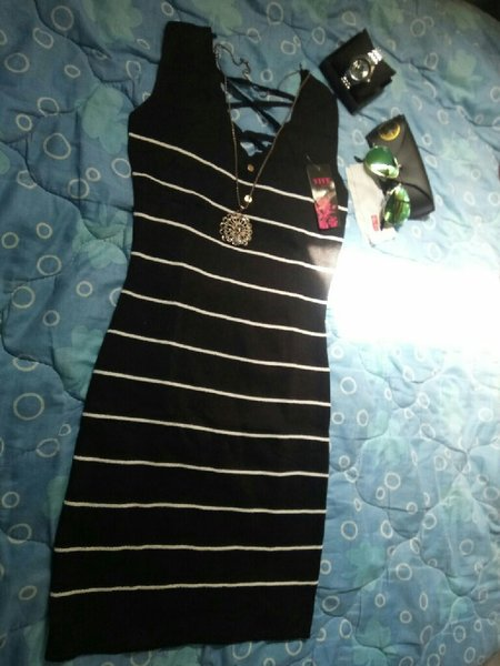 Used Black knitted Mini dress - New in Dubai, UAE