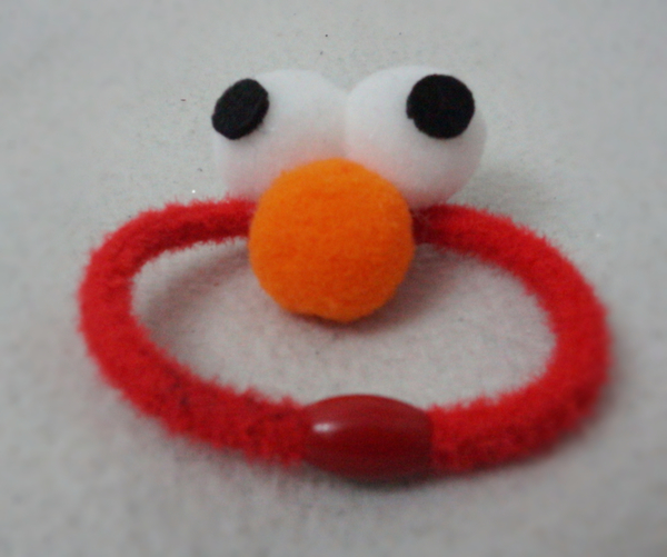 Used (2pcs.) Elmo Hair Rubber Band for Kids in Dubai, UAE