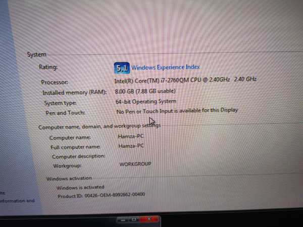 Used Dell laptop i7 8 gb ram in Dubai, UAE