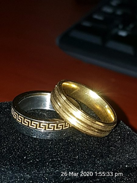 Used Two rings 7 and 8 size engagement in Dubai, UAE