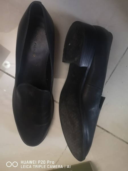 Used Marc Fisher Black Leather Shoes size 39. in Dubai, UAE