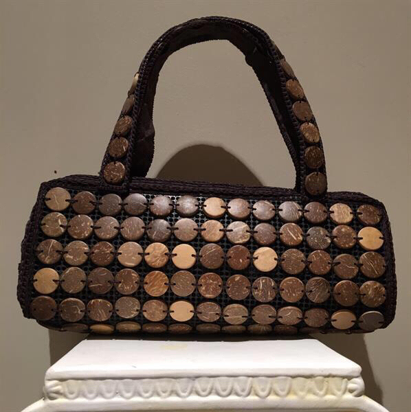 Used 3 Coconut Shell Handbags and necklaces  in Dubai, UAE