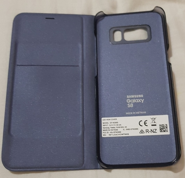 Used SAMSUNG Galaxy S8 Led View Cover Blue in Dubai, UAE