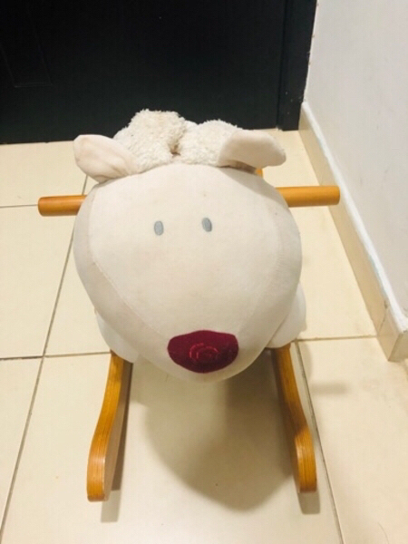 Used Wooden ROCKING RIDE BEAR TOY in Dubai, UAE