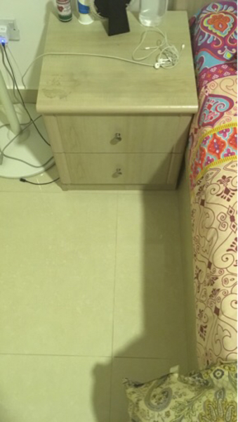 Used Queen Size bedset with dresser  in Dubai, UAE