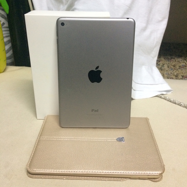 Used Hi, I'm selling #Apple Ipad 4 Mini,16Gb. Look Like New with Box, Charger, Cover Case & Receipt. Bought In Sharaf DG. Space Gray Color. Not any fault or problems.  in Dubai, UAE