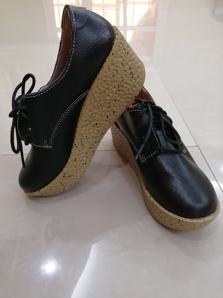 Used LEATHER HEIGHTENING SHOES SIZE 37 in Dubai, UAE