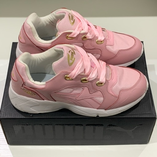 Used Original pink puma shoes ladies size 38 in Dubai, UAE