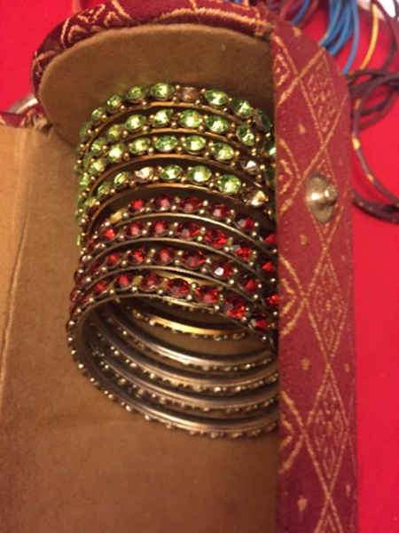 Used 12 bangles 2.6 size red and green  in Dubai, UAE