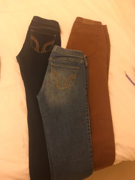 Used 3 jeans - hollister & pull and bear  in Dubai, UAE