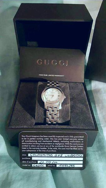 Used Ladies Gucci Watch with Diamond Markers in Dubai, UAE