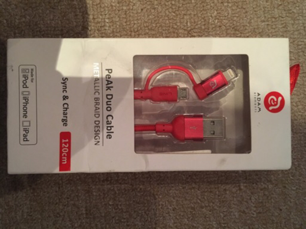 Used Valentine gift 4 iphone charging cable in Dubai, UAE