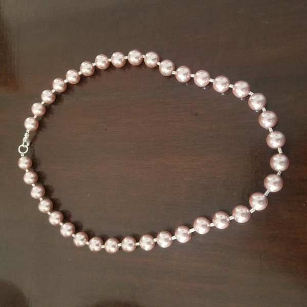 Used Pink pearl necklace in Dubai, UAE