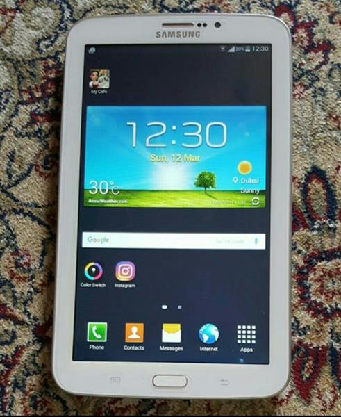 Used Samsung Galaxy Tab 3 And No Box Just Charger And Used Once Or Twice in Dubai, UAE