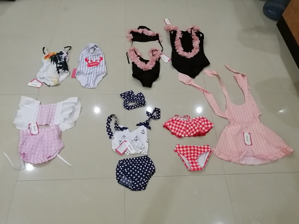 Used New baby girl swimsuits and sets 2-3yo in Dubai, UAE
