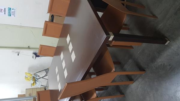 Used Dinning complete table with bar table in Dubai, UAE