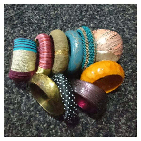 Used 10 pcs of bangles of different materials in Dubai, UAE