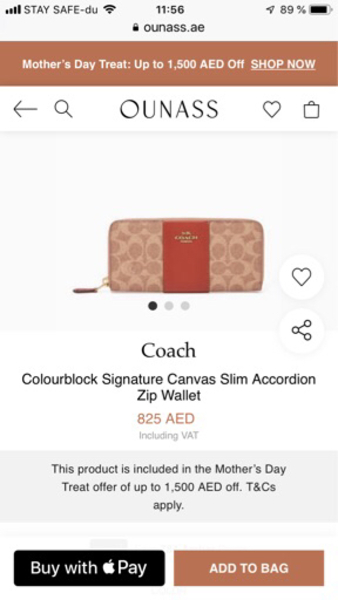 Used COACH original wallet NEW in Dubai, UAE