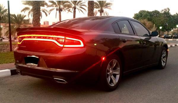 Used Dodge Charger 2016 .. SE Plus .. 28000kms..Dark Grey Color..3.6L..red And Black Colorleather Seats Wot in Dubai, UAE