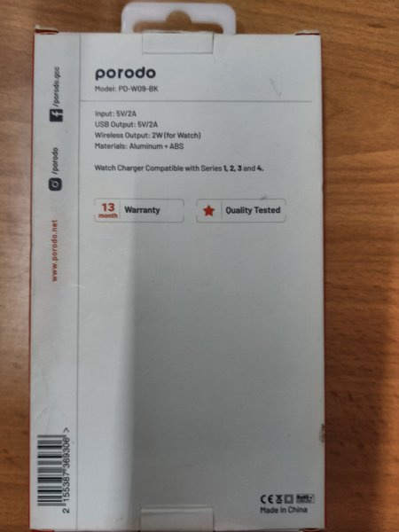 Used PORODO  MAGMATIC APPLE WATCH CHARGER in Dubai, UAE