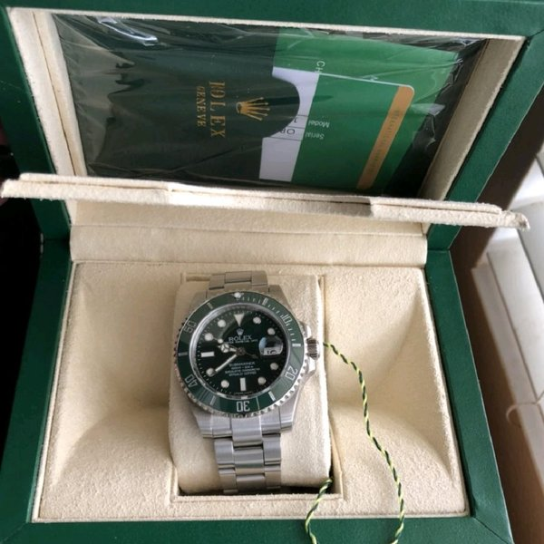 Used Rolex Submariner green (hulk) in Dubai, UAE