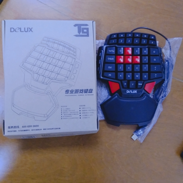 Used Delux T9 One Hand Esport Gaming Keyboard in Dubai, UAE