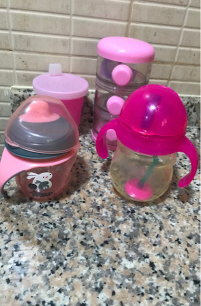 Used Sippy cups & a milk container. in Dubai, UAE