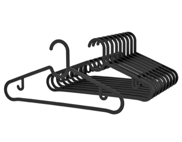 Used IKEA SPRUTTIG Black Hangers 30 Pieces in Dubai, UAE