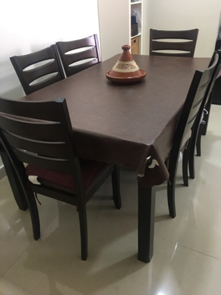 Used Table with 6 chairs like new in Dubai, UAE