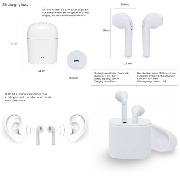 Used New i7s earpods with with charging case in Dubai, UAE