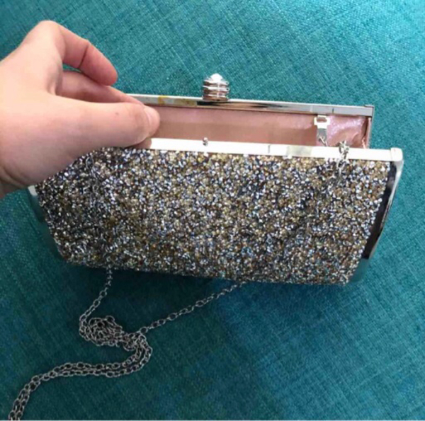 Used Bebe clutch authentic new never used in Dubai, UAE